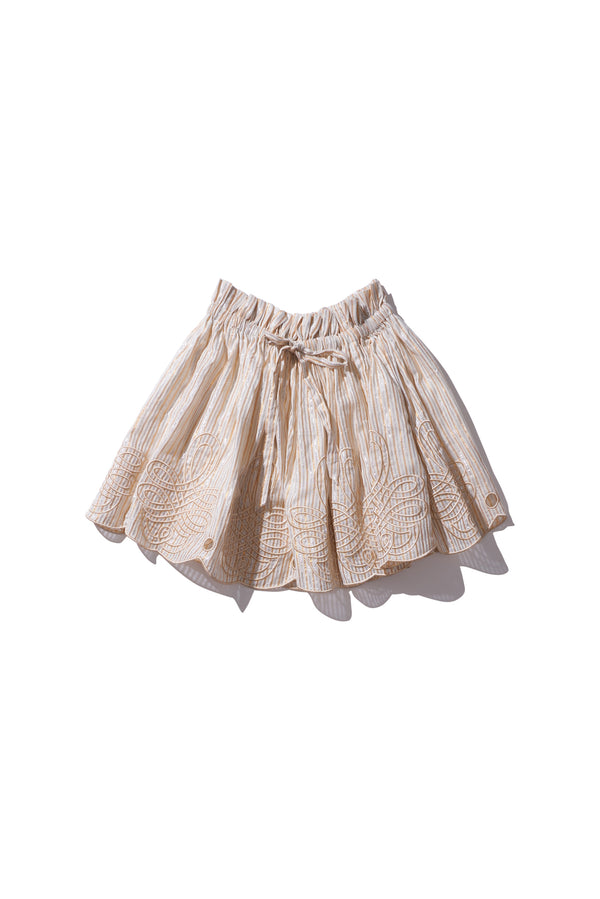 Mini Skirt - Min Easkurt in Metallic Stripe Cotton Lurex - Innika Choo
