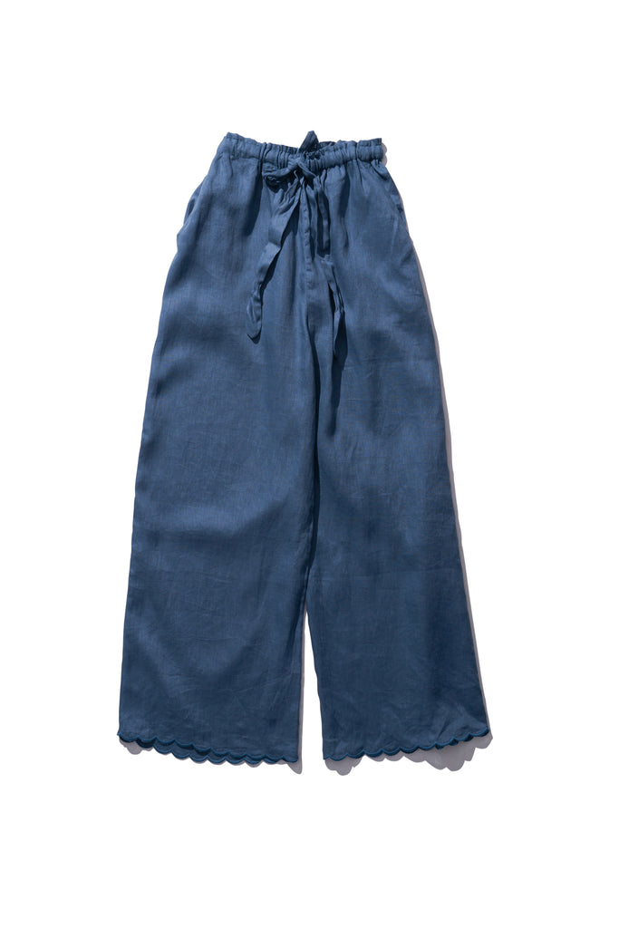 Linen Pants - Helen Back in Graphite - Innika Choo