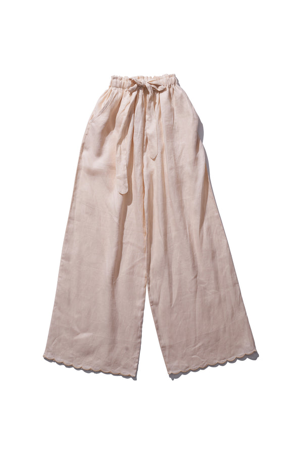 Linen Pants - Helen Back in Panna - Innika Choo