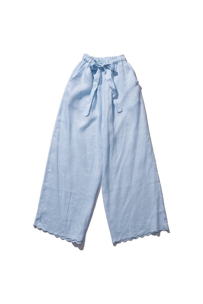 Linen Pants  - Helen Back in Sea Foam - Innika Choo