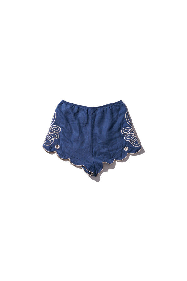 High Waisted Shorts - Cleo Direy in Copen Blue - Innika Choo