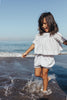 Kids Linen Hand Smocked Top and Bloomers - Farrah Weydrims Little Stripe