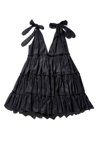 Ramie Big Frill Dress - Ché Pas Noir