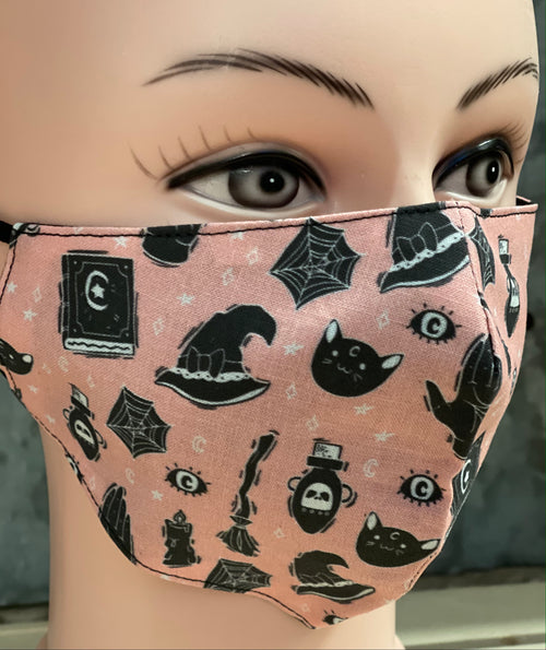 FORTUNE TELLER STITCH WITCH FACE MASK
