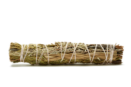 SAGE, JUNIPER, SWEETGRASS LARGE SMUDGE