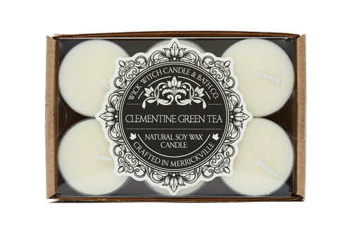 CLEMENTINE GREEN TEA TEALIGHT 12PK