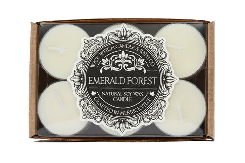EMERALD FOREST TEA LIGHT 12PK