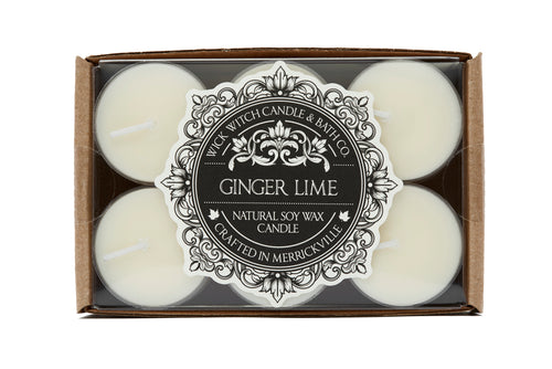 GINGER LIME TEALIGHT 12PK