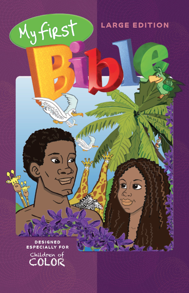 My First Bible for Children of Color Large with CD (Adam & Eve cover)
