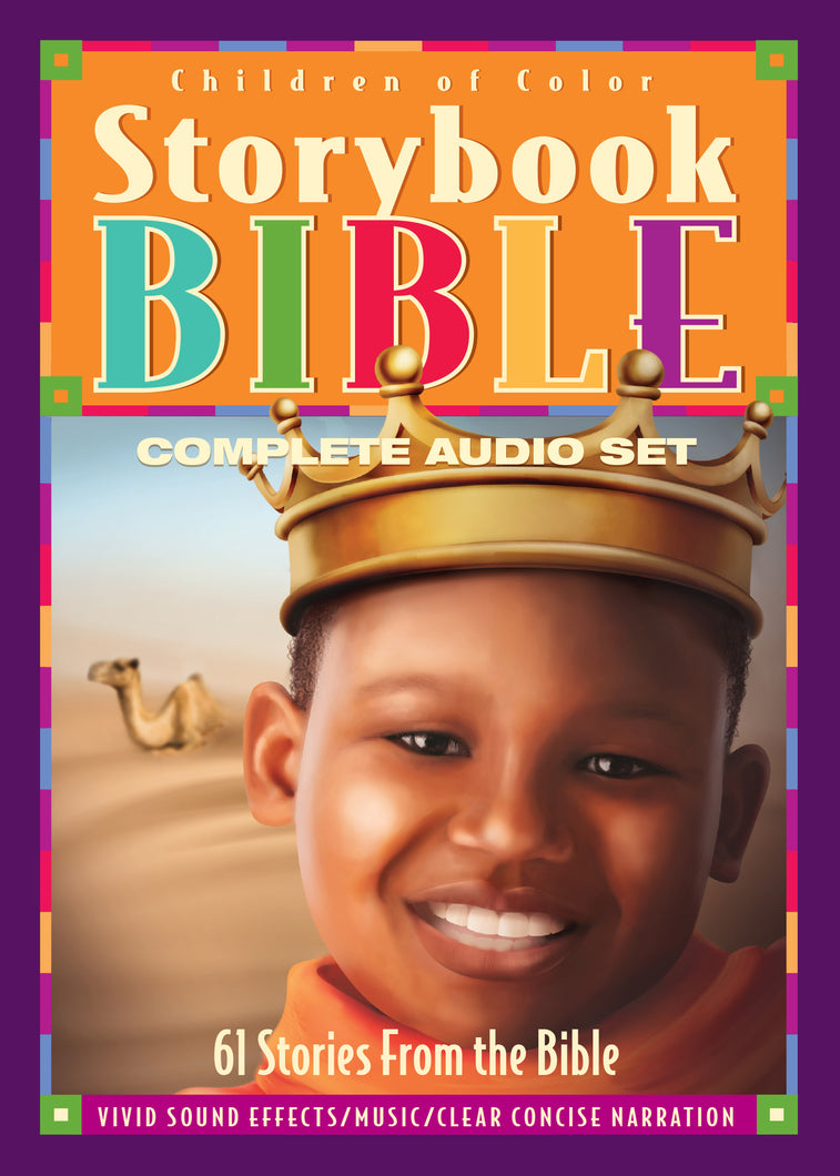 Children of Color Storybook Bible Complete Audio  4 CD Set (B)Boy with Crown cover