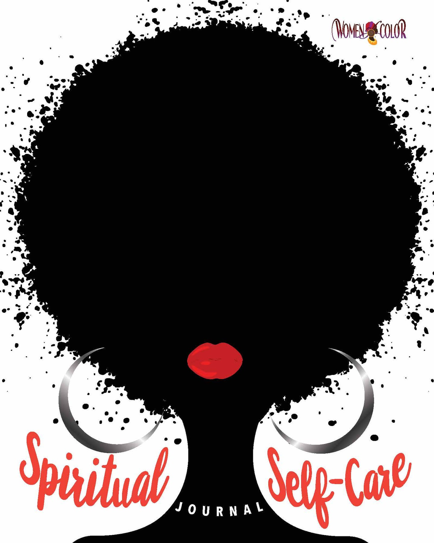 Women of Color Spiritual Self-Care Journal - Black Edition with lay-flat binding