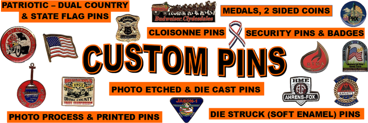custom lapel pins, badges, coins
