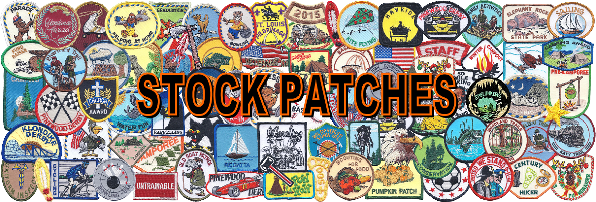 stocked embroidered activity patches