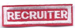 B-452 Recruiter patch (limited stock, this patch will be discontinued) - BenchmarkSpecialAwardsCo
