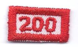 B-458 200 Mileage/Number Segment-rectangle (limited stock, this patch will be discontinued) - BenchmarkSpecialAwardsCo