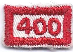 B-460 400 Mileage/Number Segment-rectangle (limited stock, this patch will be discontinued) - BenchmarkSpecialAwardsCo