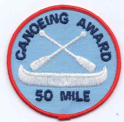 H-249 Canoeing Award 50mile