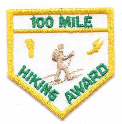 H-217 100 Mile Hiking Award - BenchmarkSpecialAwardsCo