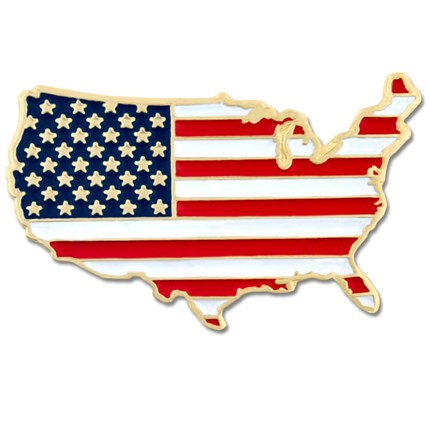 P-103 US Country Flag lapel Pin *Cloisonne Highest Quality - BenchmarkSpecialAwardsCo