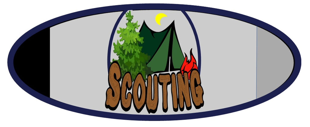 H-288 Scouting Neckerchief Slide with Velcro clasp - BenchmarkSpecialAwardsCo