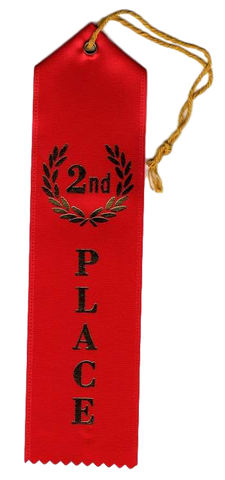 A-99 Second Place Ribbon - BenchmarkSpecialAwardsCo