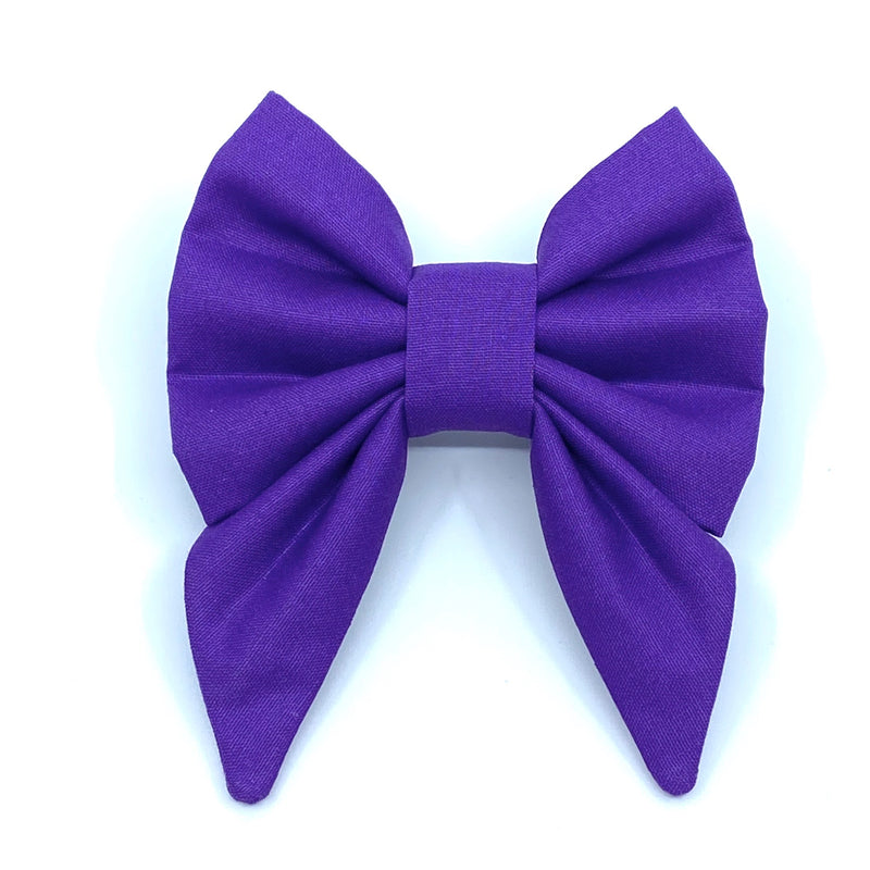 """Royal Purple"" Bow Tie / Sailor Bow"