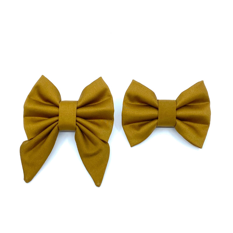 """Mustard"" Bow Tie / Sailor Bow"