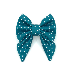 """Teal"" Bow Tie / Sailor Bow"