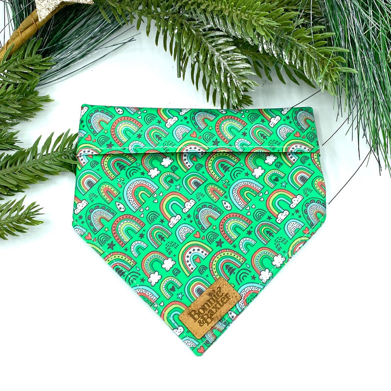 """Christmas Rainbows"" Bandana"