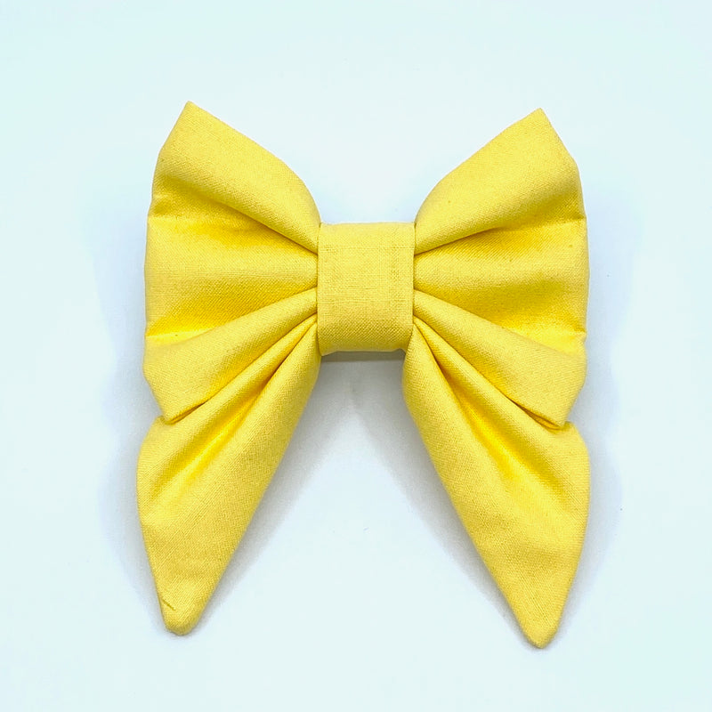 """Yellow"" Bow Tie / Sailor Bow"