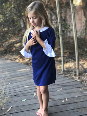Navy Jane: Mommy & Me | matching outfits for plus size mommy and daughter, nautical fashion mom and daughter outfit sets