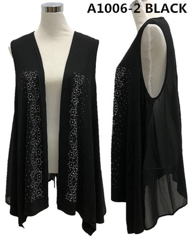 Cardigans Bling Black/White 1006-2