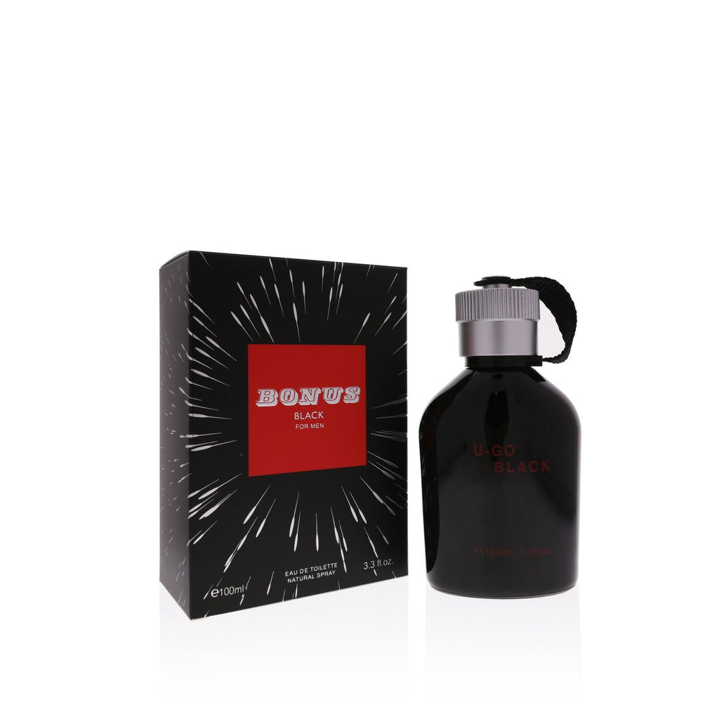 Bonus Black  Eau De Toilette Natural Spray Perfume 100ml 3.3oz Perfume