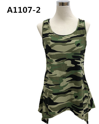 Over Body Tank Top Camo