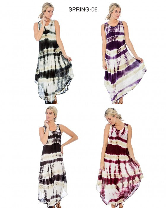 Tie Dye Summer Dress - Beach Cover Up