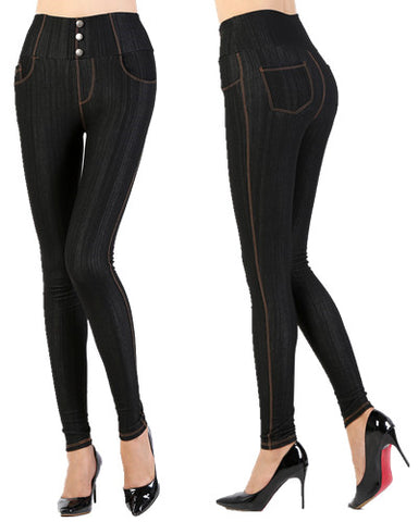 Women's Slim Skinny Stretch Jeans Jegging Black - Blue