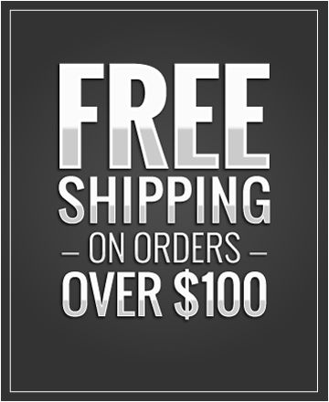 Free Shipping on all order over $100