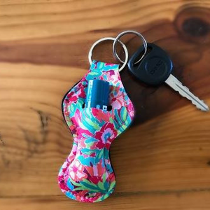 Chapstick Holder Keychain