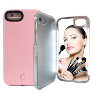 iPhone Case Selfie LED Light Make Up Mirror for 6/7