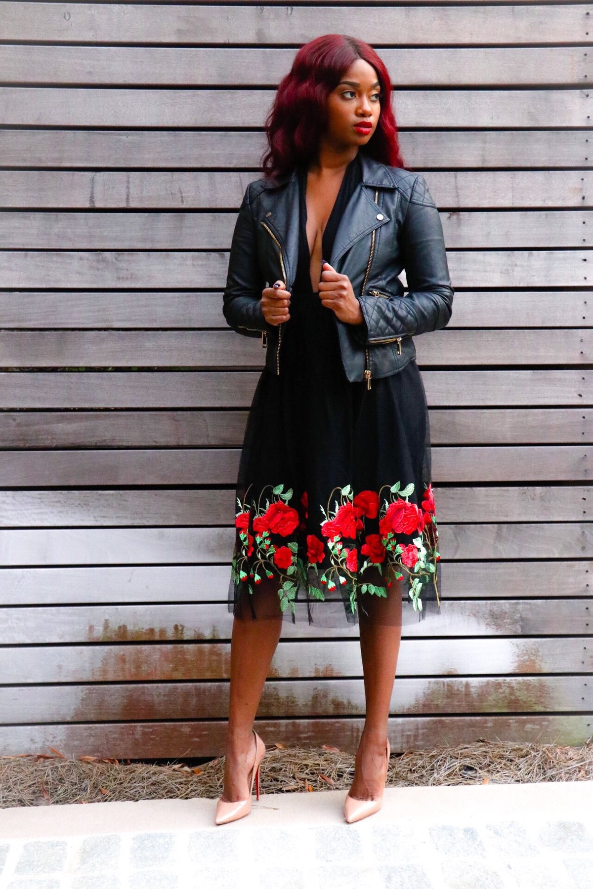 """Roses are Red"" Tule Midi Skirt"