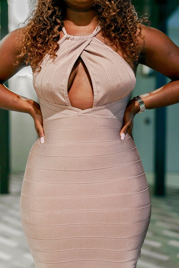 Pretty in Mauve Bandage Dress