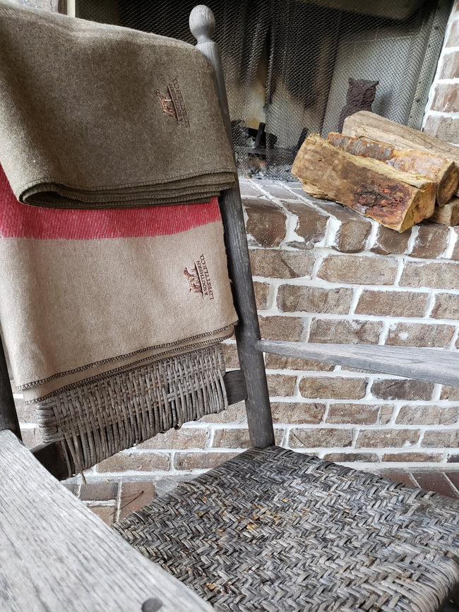 Farm House Wool Blanket - A Southern Lifestyle Co.