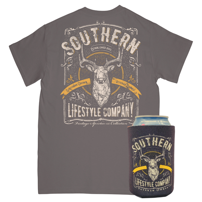 Vintage Sportsman Tee & Koozie - A Southern Lifestyle Co.