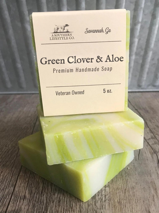 Green Clover & Aloe Soap - A Southern Lifestyle Co.