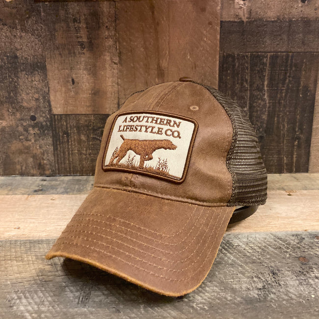 Leather Trucker Patch Snapback - A Southern Lifestyle Co.