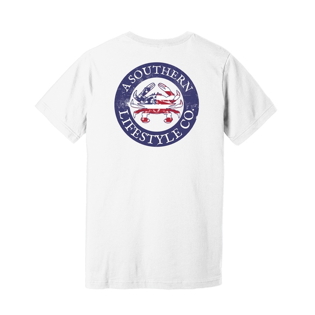 Red White & Blue Crab Tee - A Southern Lifestyle Co.