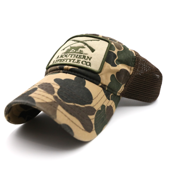 Hunt Club Patch Camo Hat - A Southern Lifestyle Co.