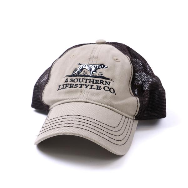 On-Point Trucker Hat Barn Wood Brown