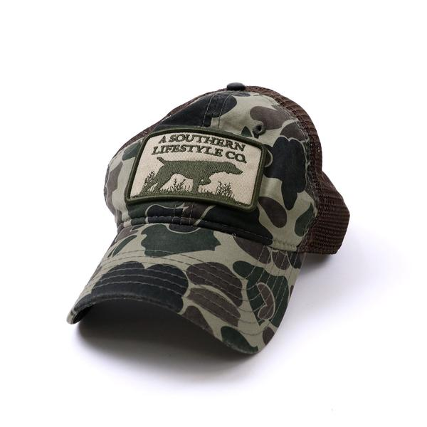 georgia-land-cattle - Southern Lifestyle Patch Hat Green Camo - Headwear