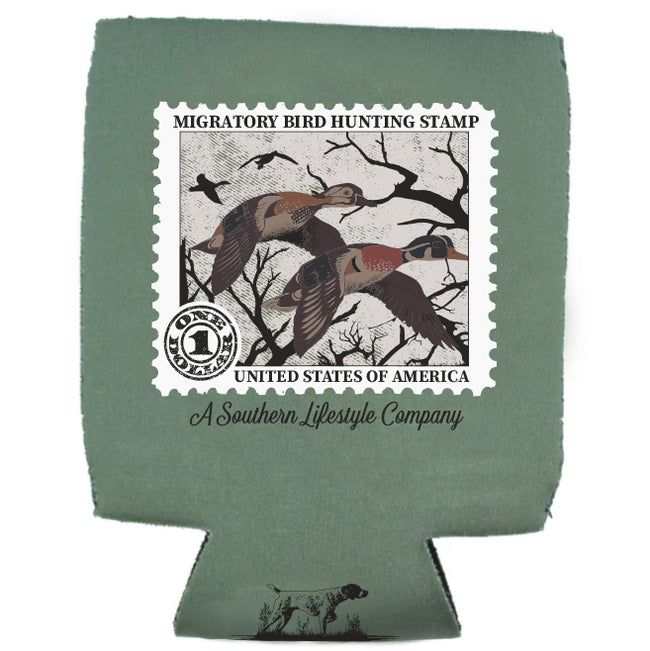 Duck Stamp Koozie - A Southern Lifestyle Co.